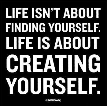 """Девиз: """"Жизнь - это не поиски себя. Жизни - это создание Себя"""""""