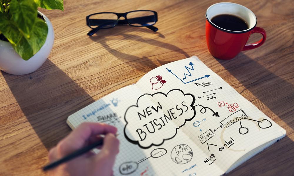 новый бизнес, блокнот, зарисовка, via shutterstock