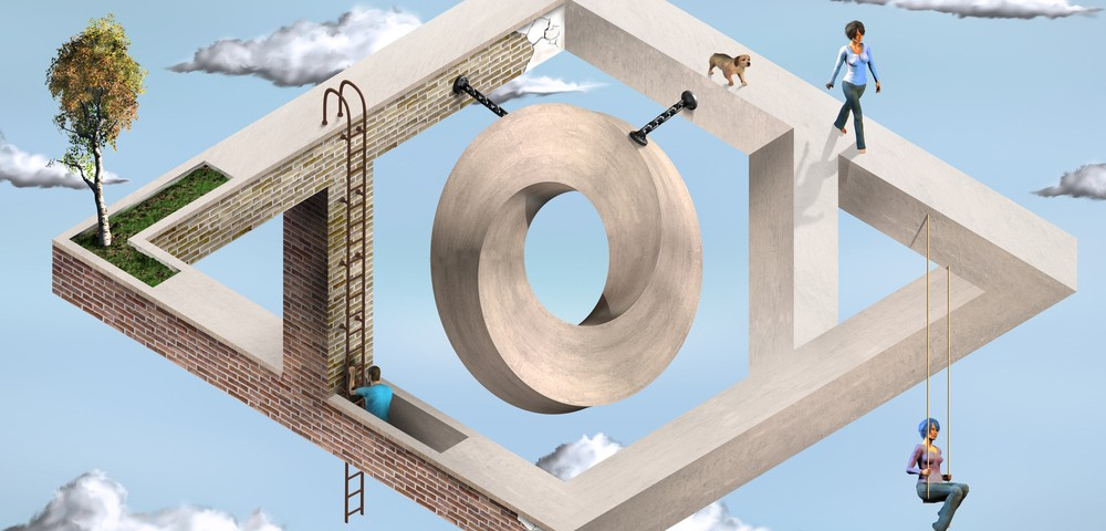 оптическая илюзия, обман зрения, via shutterstock