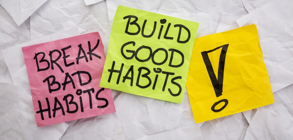 break bad habits, build good habits via shutterstock