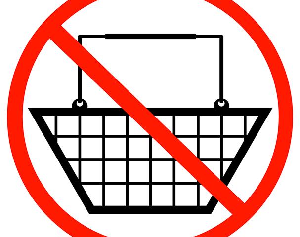 знак, заперт на покупки, via shutterstock