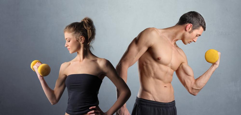 красивое тело, мужчина, женщина, via shutterstock