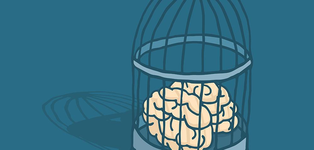 мозг в клетке, via shutterstock