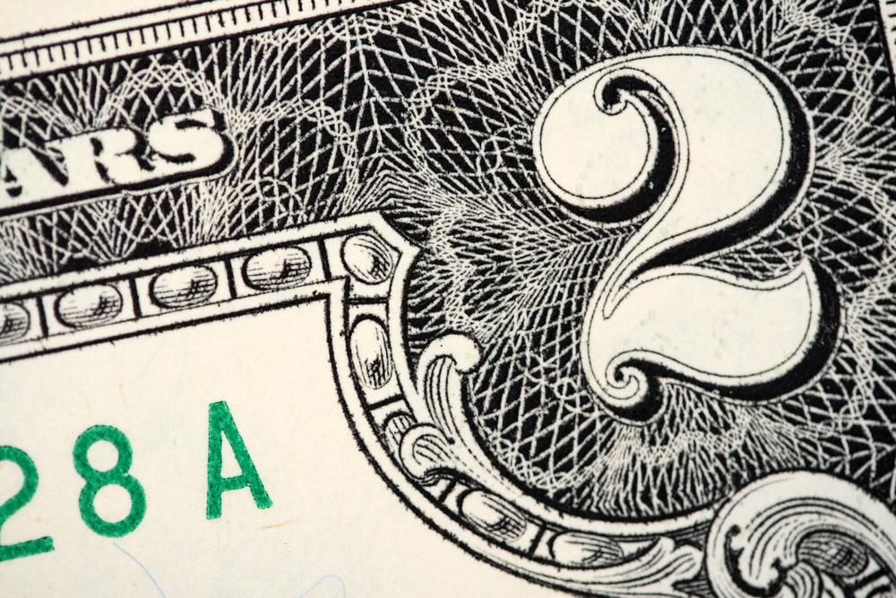 два доллара, via shutterstock