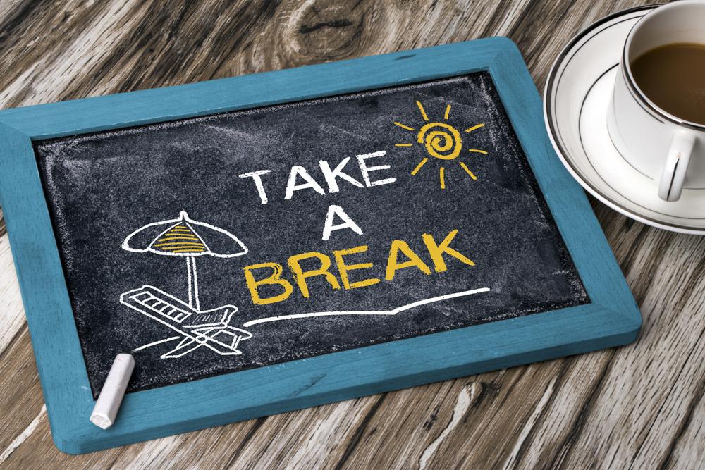 взять перерыв, via shutterstock