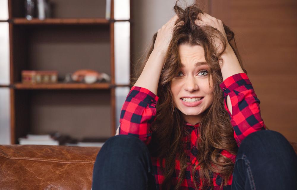девушка стресс, via shutterstock.