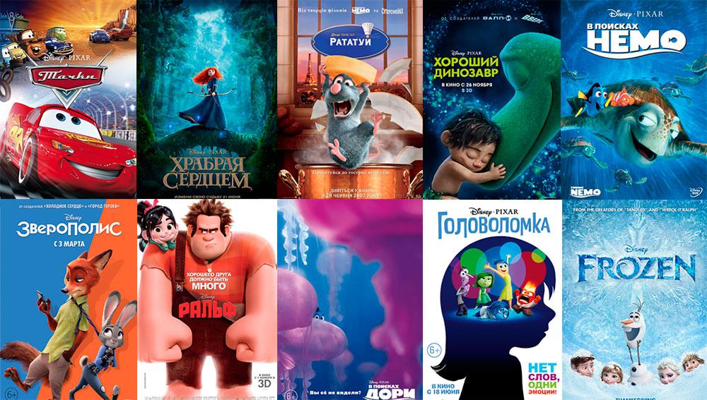 Лучшие диснеевские мультфильмы и фильмы - полный список