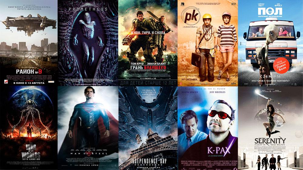 Лучшие фильмы про инопланетян и пришельцев