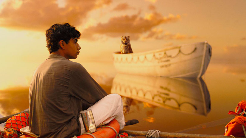 индус в лодке с тигром фильм